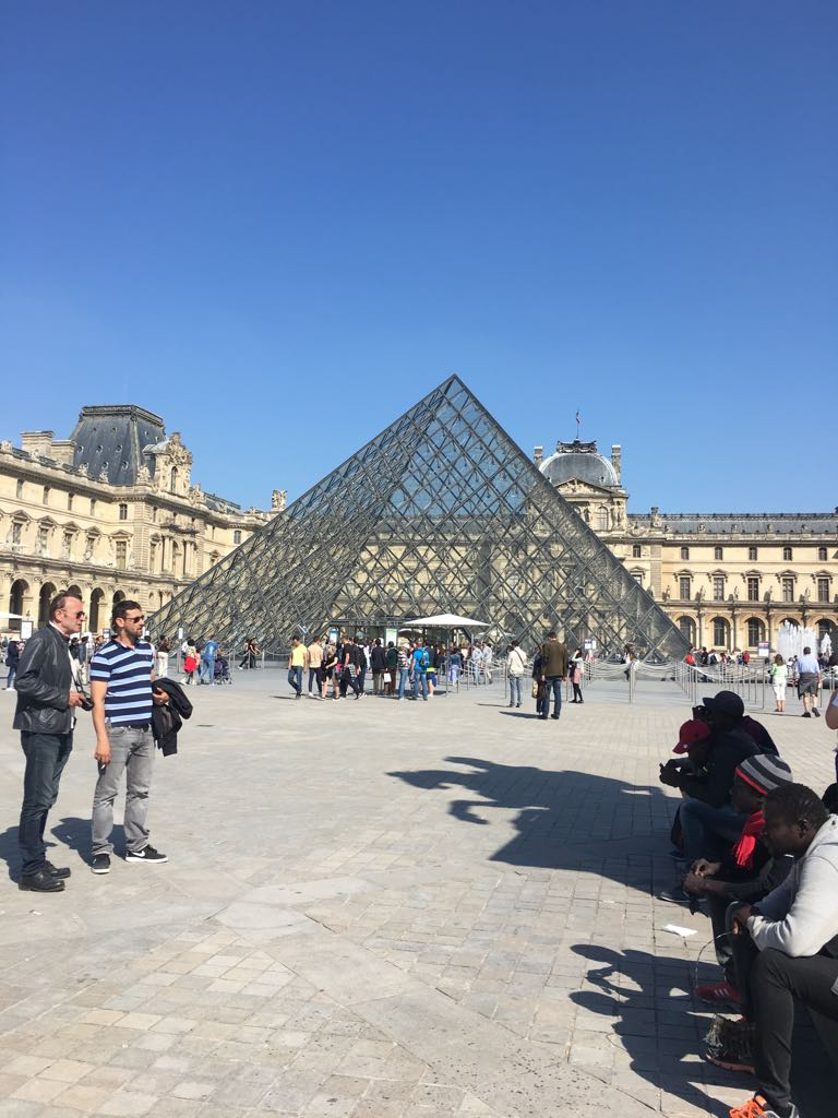 And then to The Louvre, which I found out is off-centre from the palace so it lines up with the Champs-Elysées.