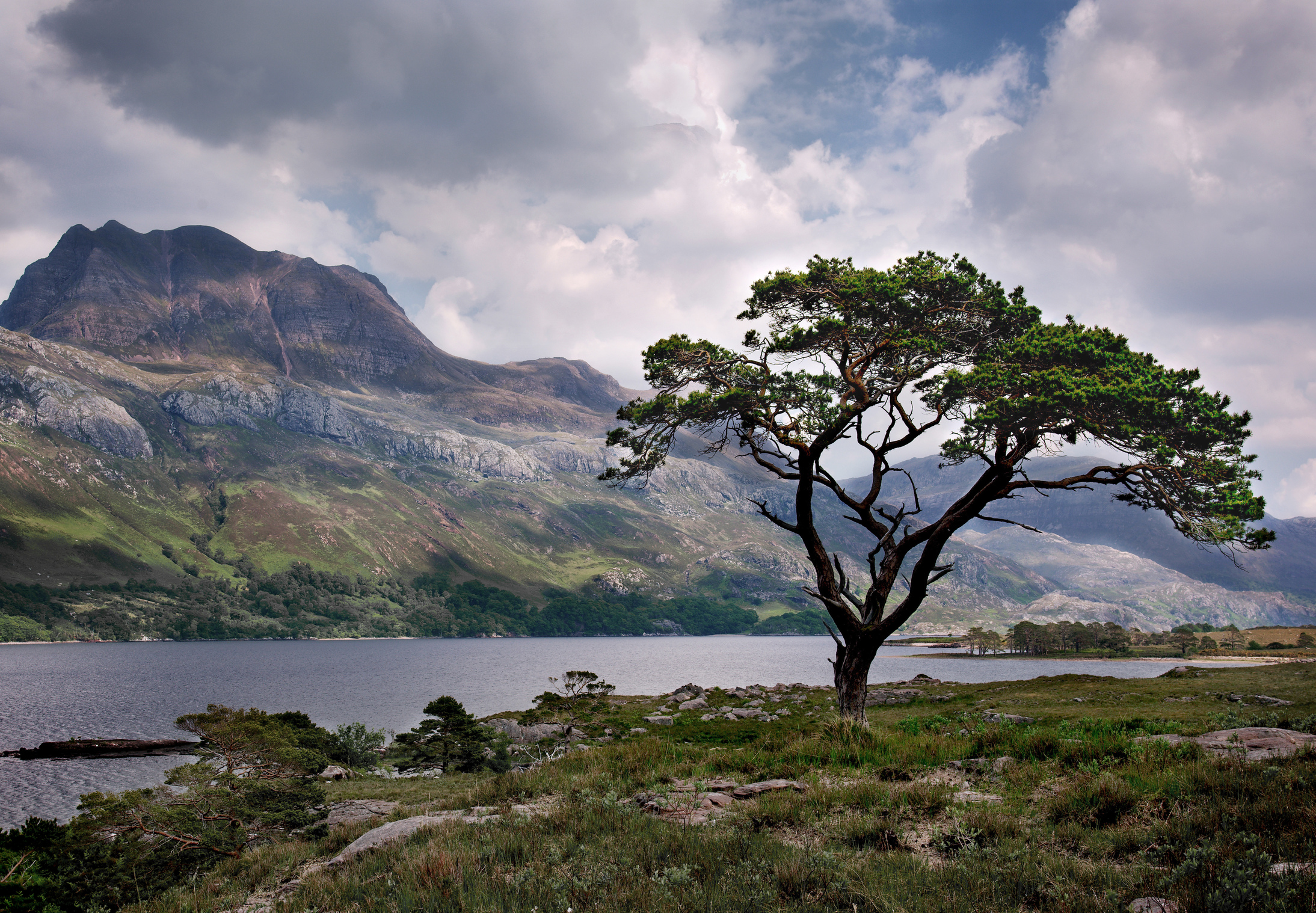 Slioch and Loch Maree, Wester Ross. Scotland