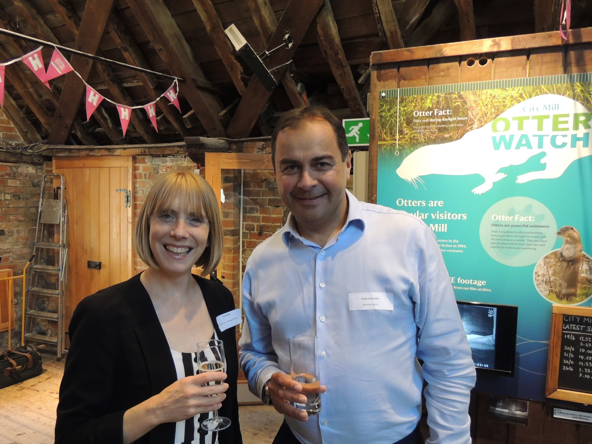 Annie Reilly, National Manager, Heritage Open Days with David de Krester, Brewing Dolphin.jpg
