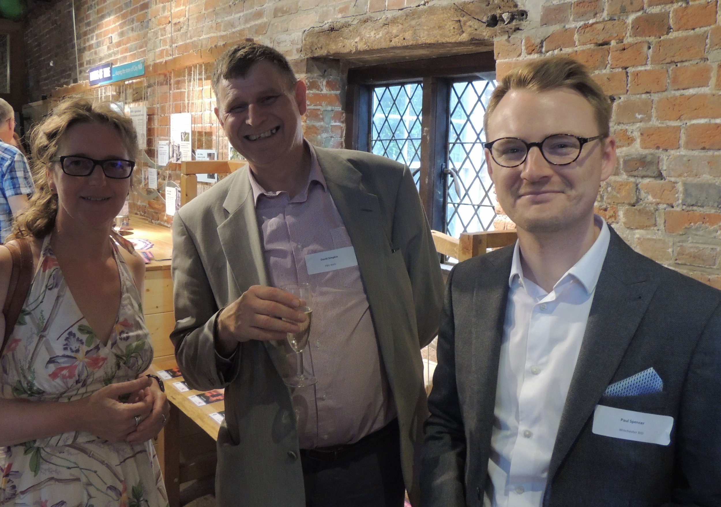 Dr Christina Welch, University of Winchester - David Simpkins, P&G Wells - Dr Paul Spencer, Winchester BID.jpg