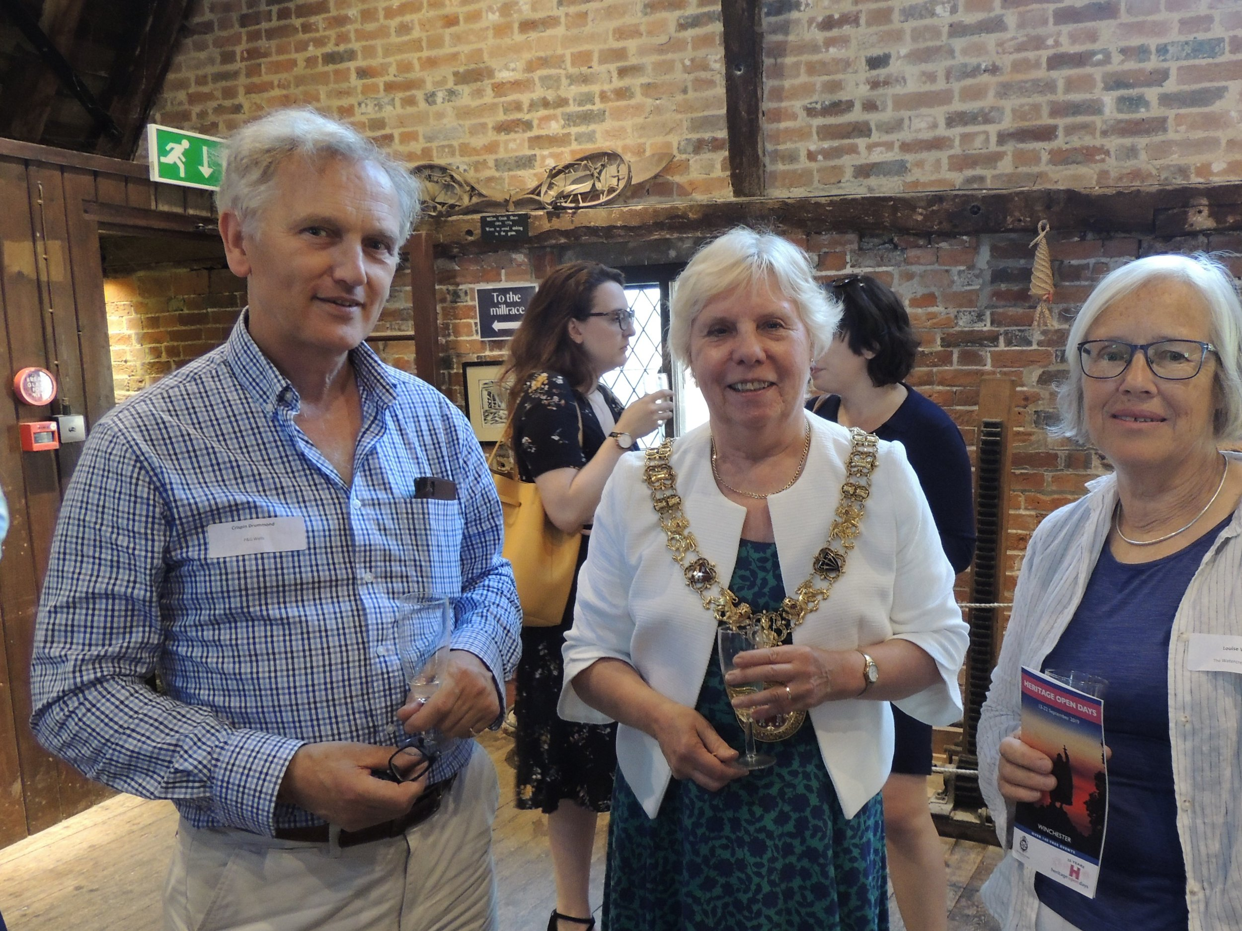 Eleanor Bell, Mayor of Winchester in conversation with Luoisa Wood, The Watercress Quarter & Crispin Drummond, P&G Wells.jpg