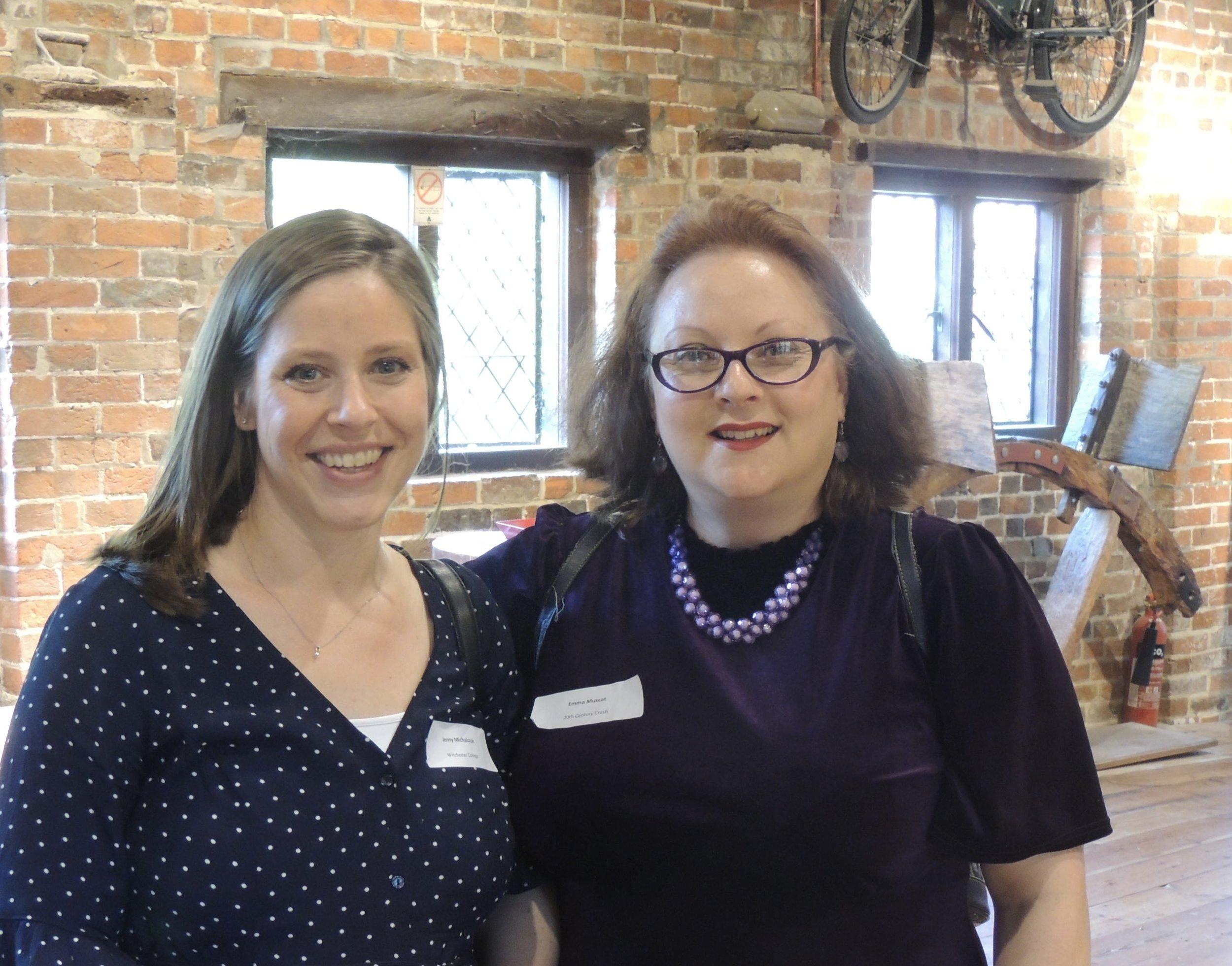 Jenny Michalczuk, Winchester College with social historian Emma Muscat.jpg