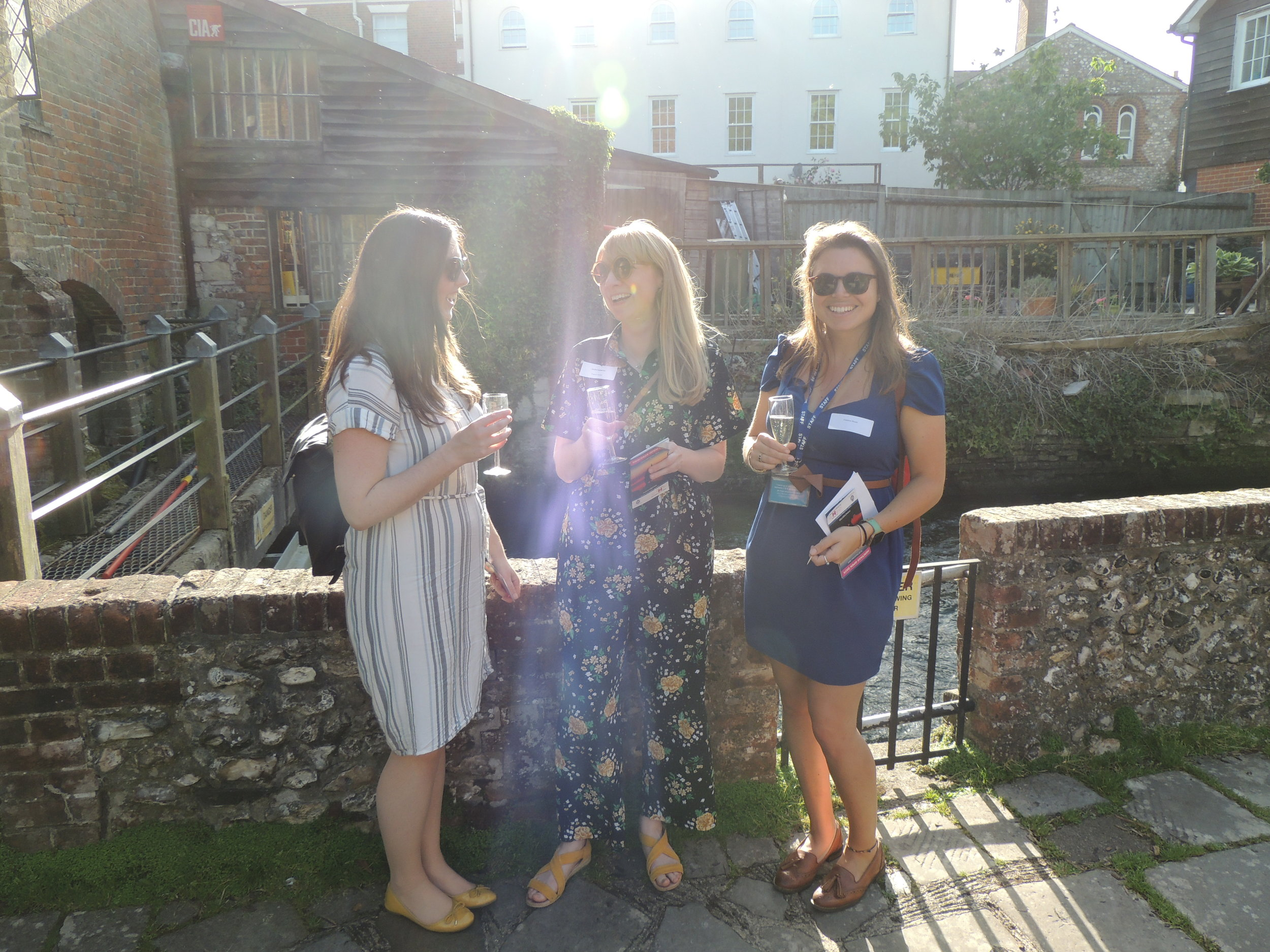 Kimberley James, Gilbert Whites enjoying the sunshine with Chawton House staff.jpg