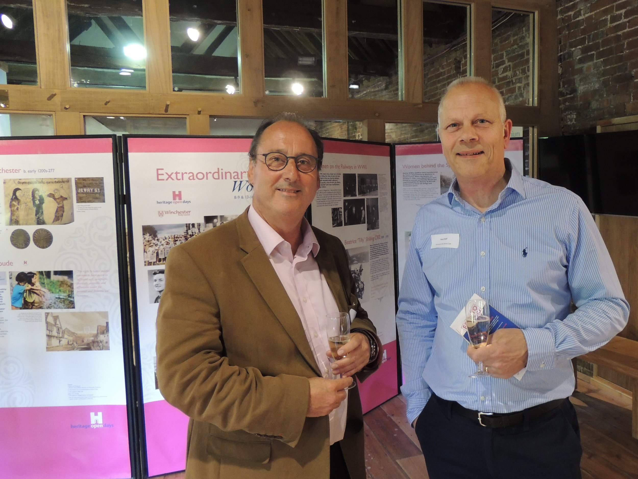 Martyn Wiltshire, CFW Architects with Steve Favell, Winchester MG Owners Club.jpg