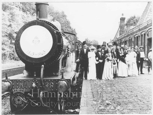 Photo courtesy of Hantsphere, Hampshire County Council website. Photo is of the centenary celebration at Chesil Station.
