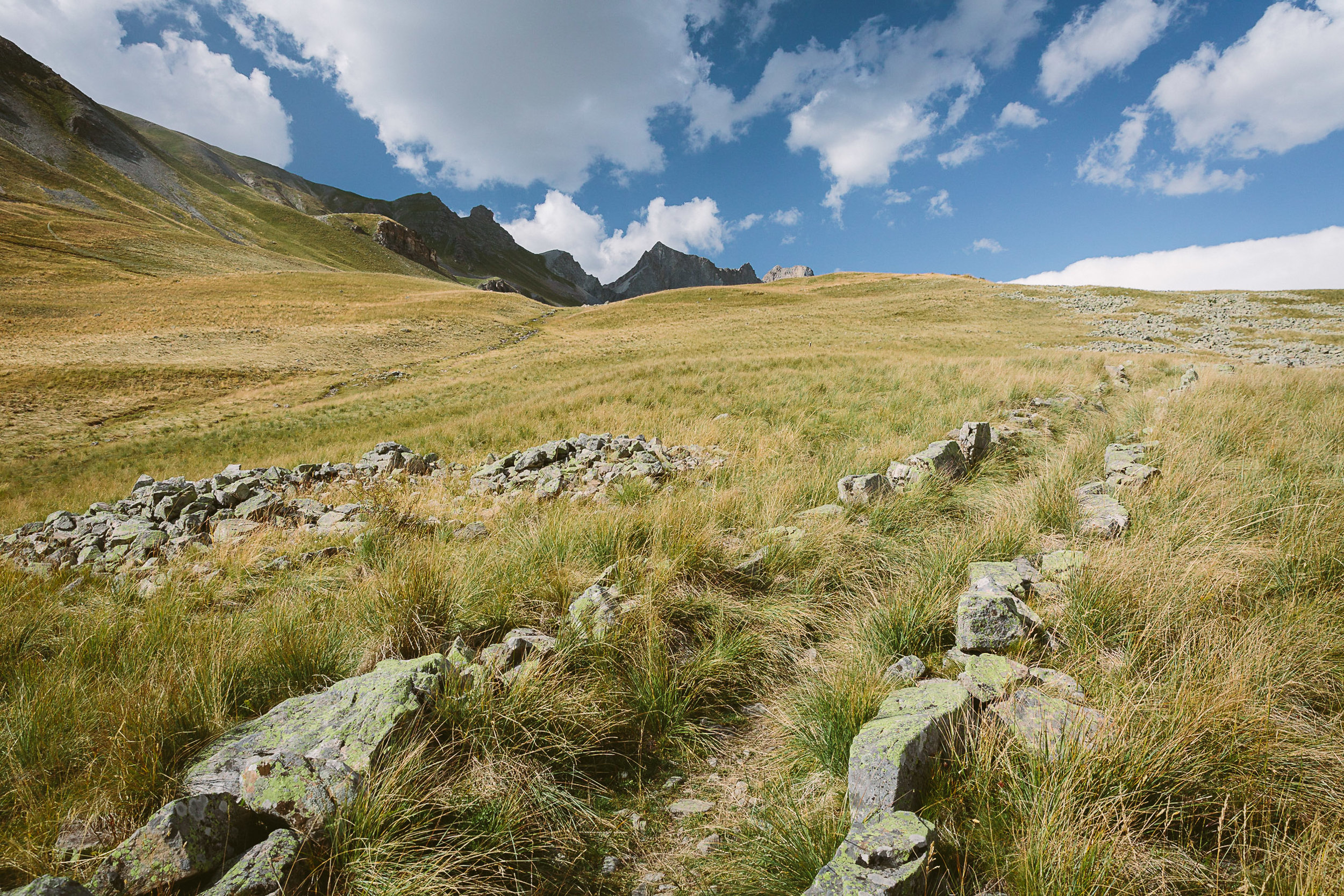 Looking back at the Col des Fourches