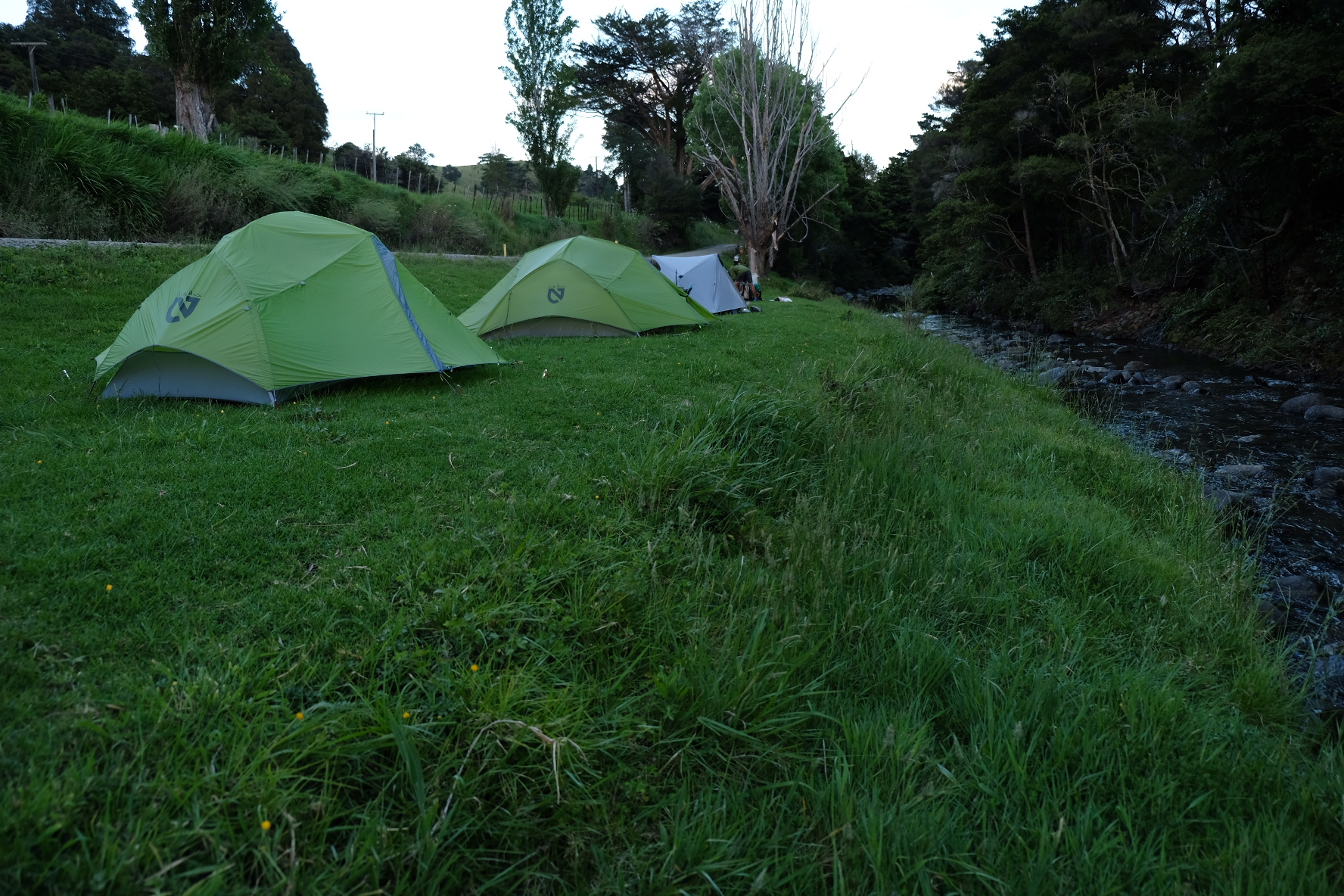 Camping near a stream before Raetea