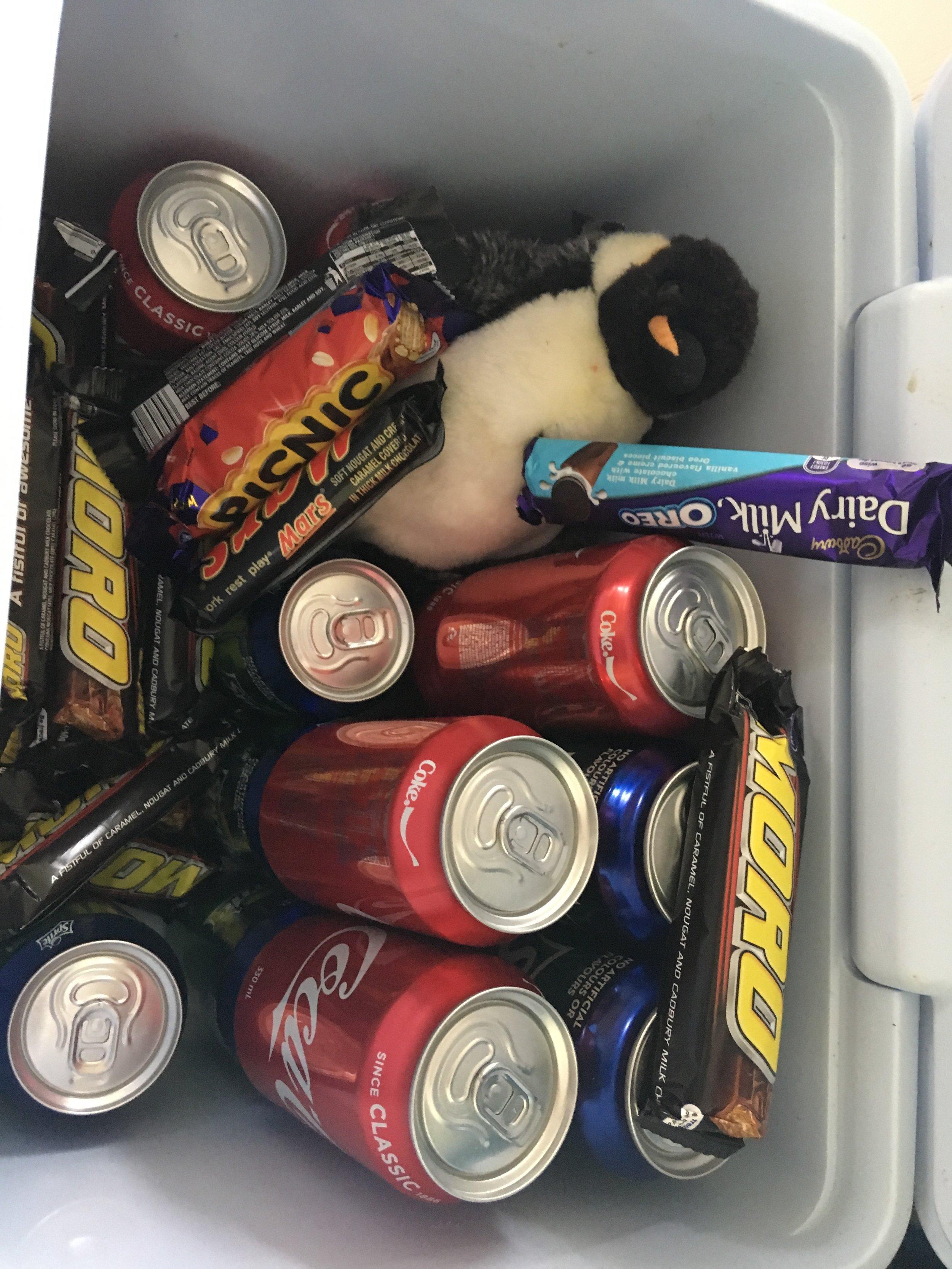Philip in the snack box