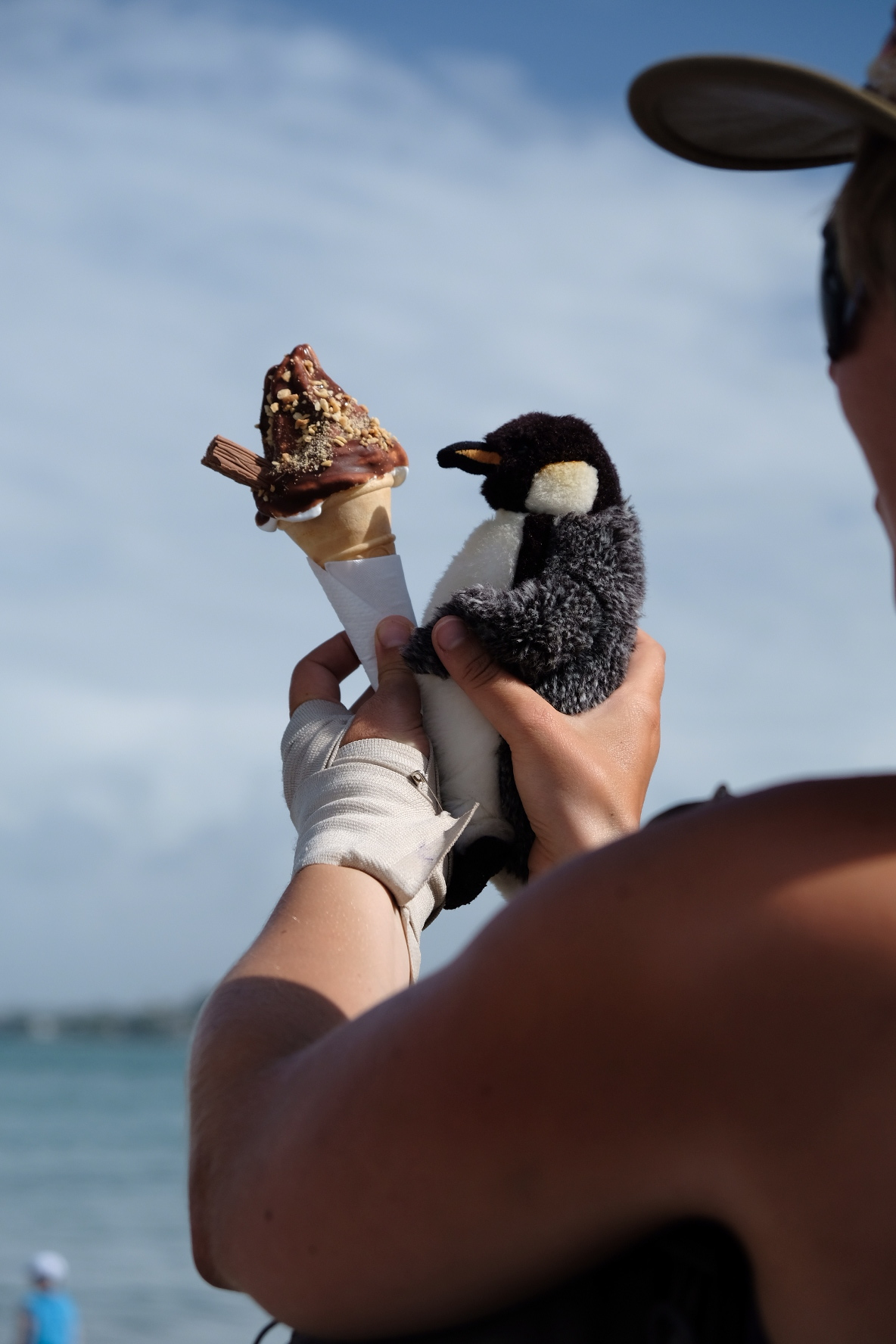 Philip enjoying a well earned ice cream