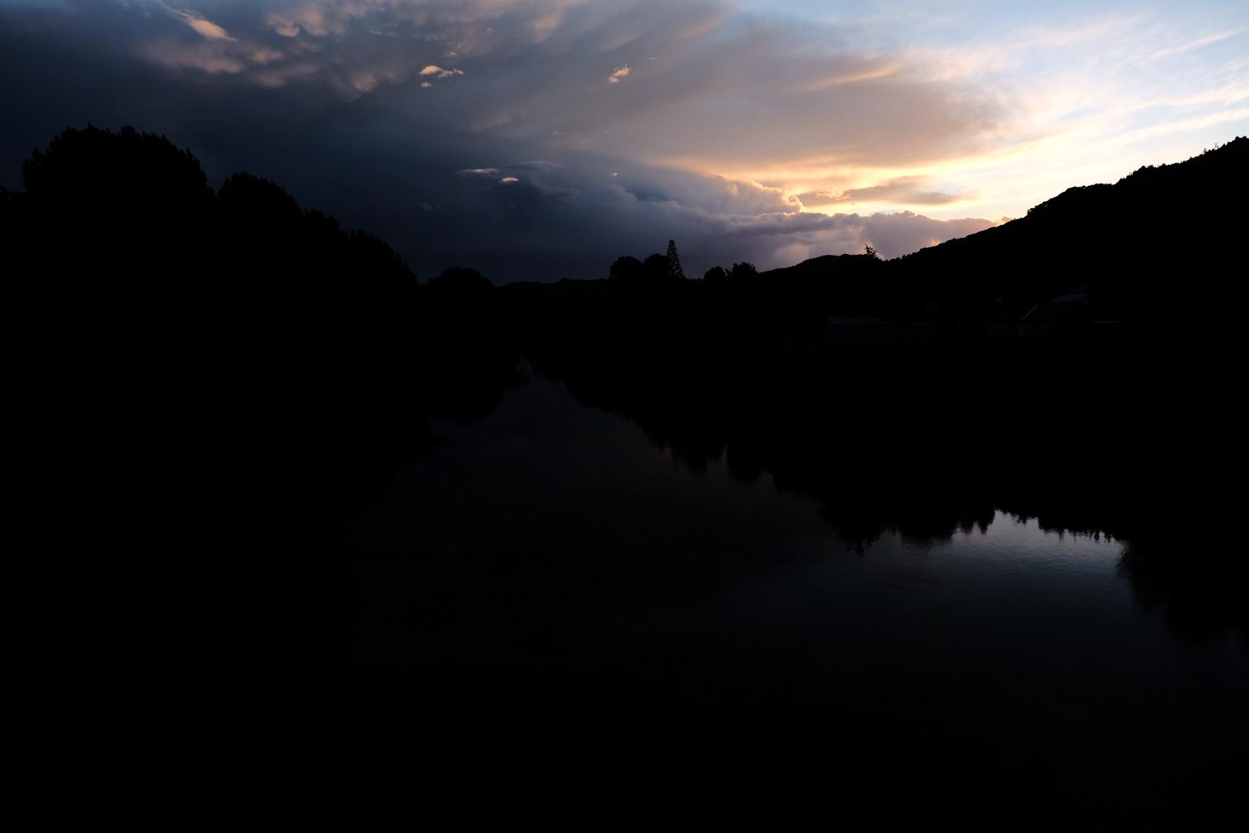 Brooding sunset over Ngaruawahia