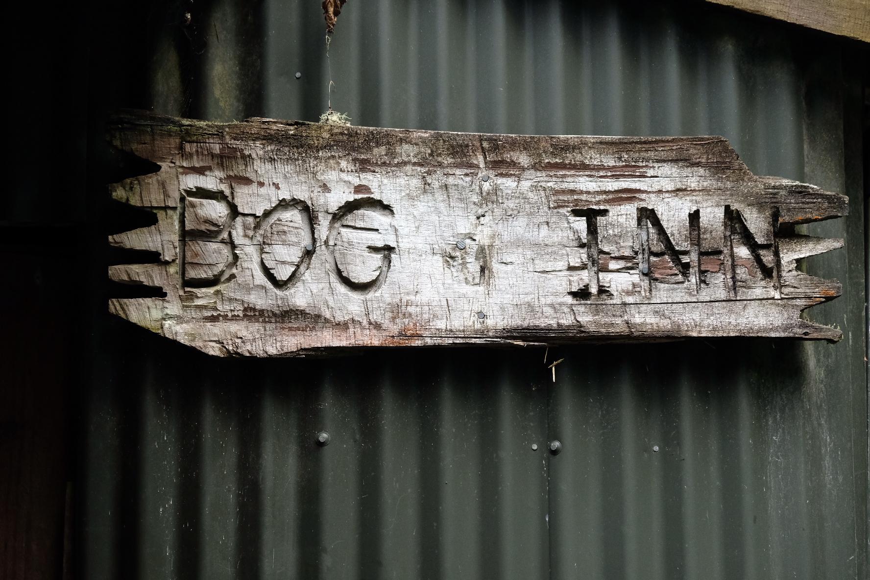 Hut in bog