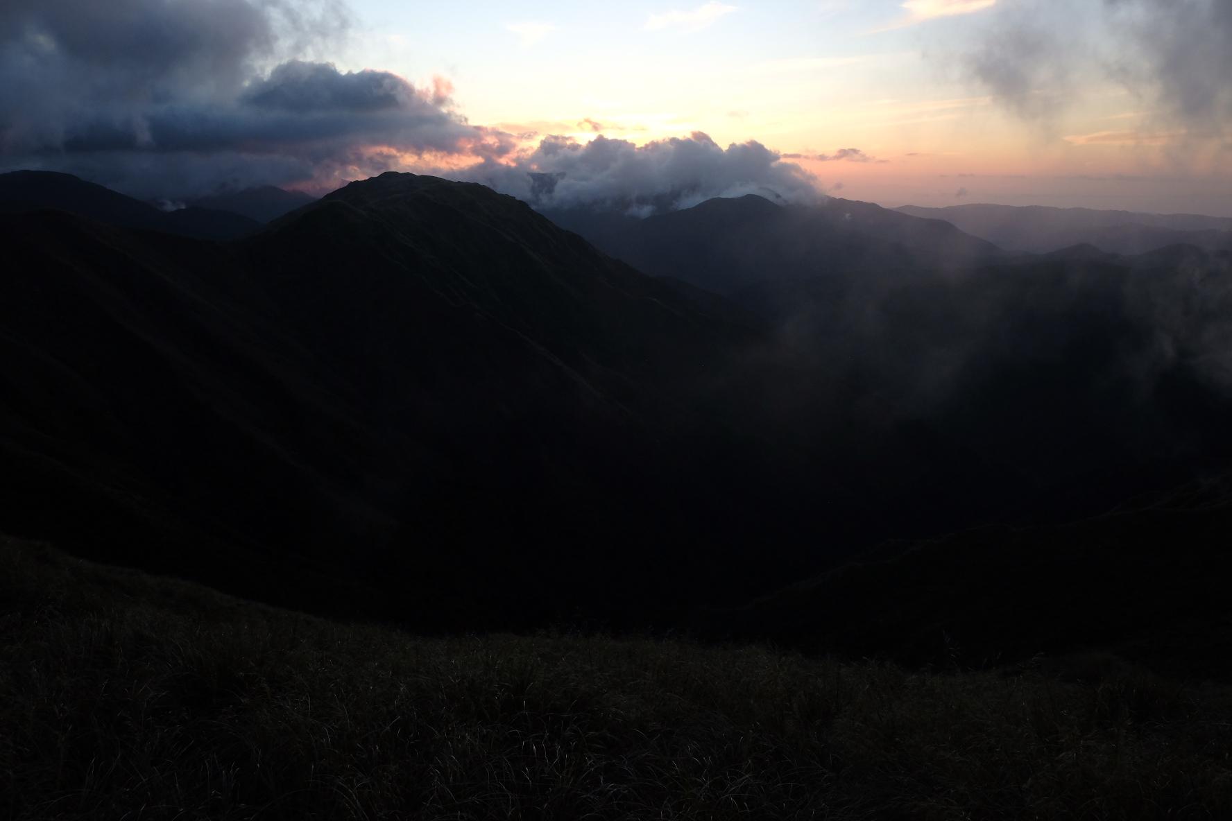 Sunset on the ridges