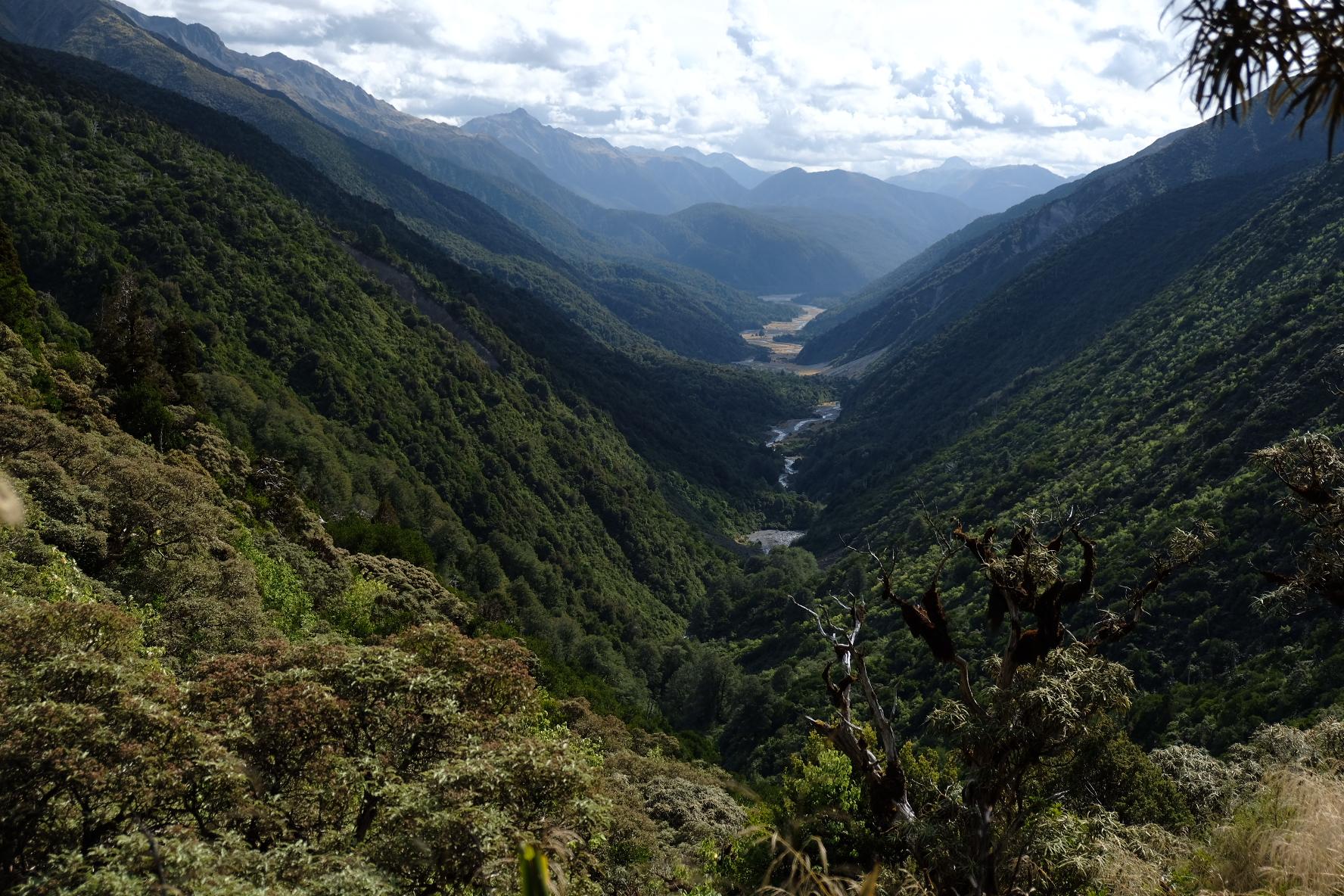 Gorgeous views down into the Taramakau valley
