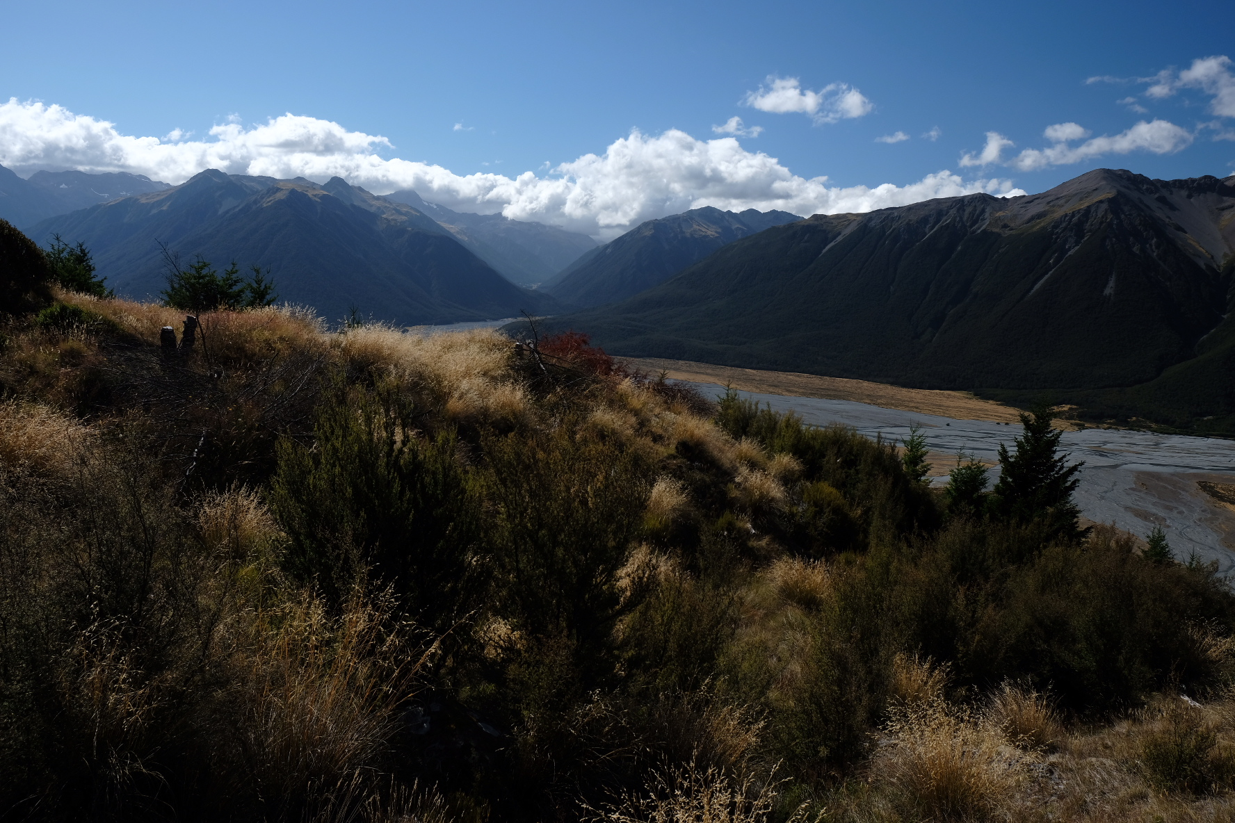 Looking down into the Arthur's Pass valley