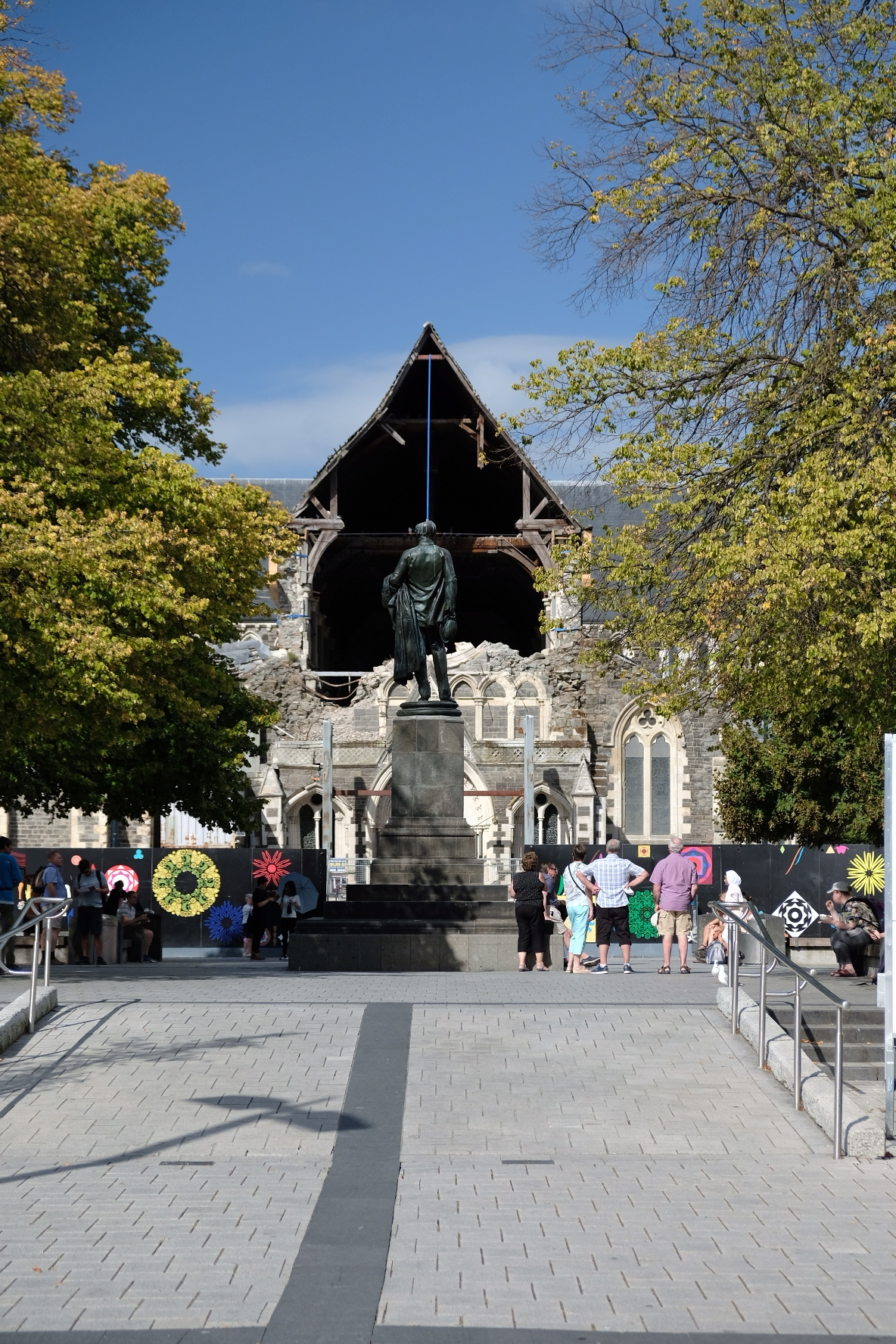 What is left of Christchurch cathedral