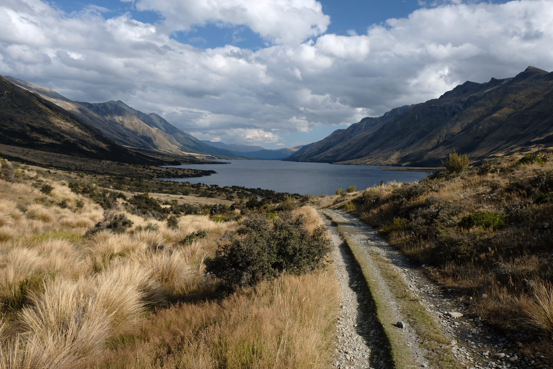 Approaching the Mavora lakes