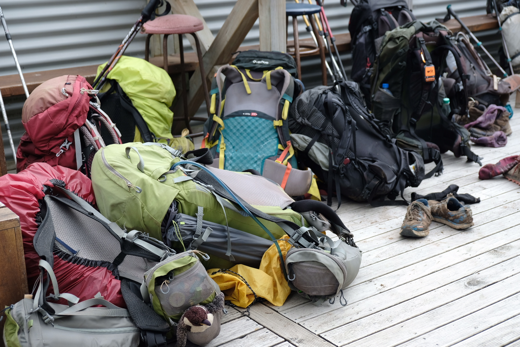 A small fortune of tramping gear
