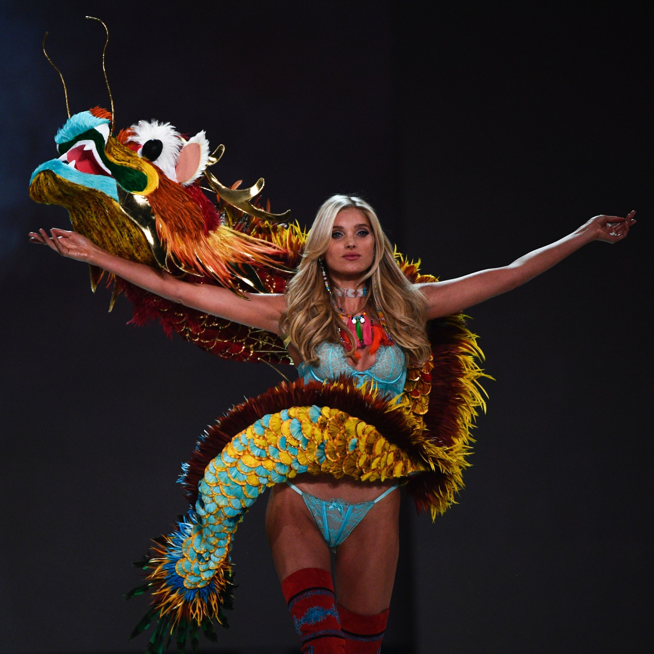 The Victoria's Secret runway dragon that received widespread Backlash in 2016.