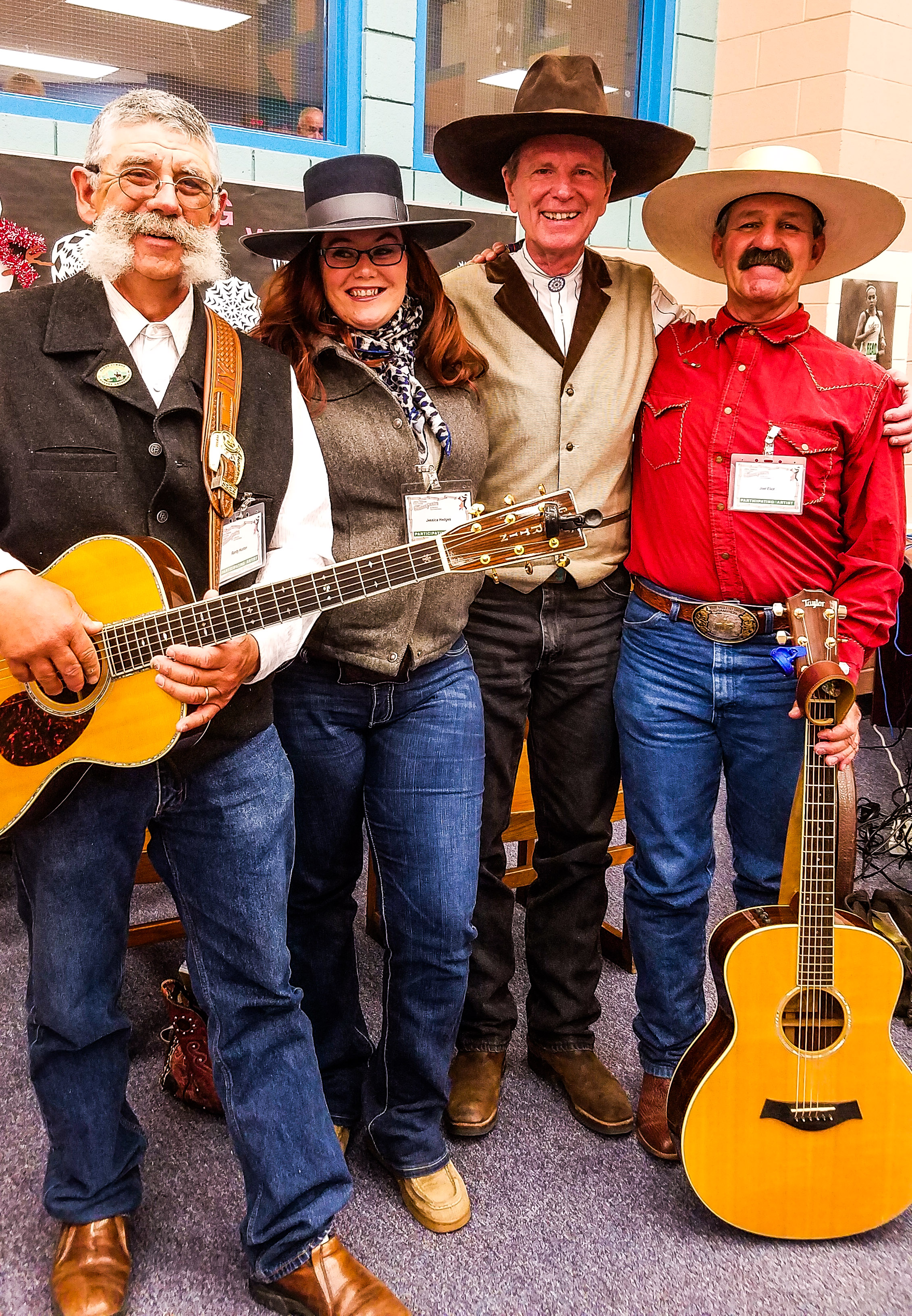 Left to right: Randy Huston, Jessica Hedges, Wash Tub Jerry, and Joel Eliot