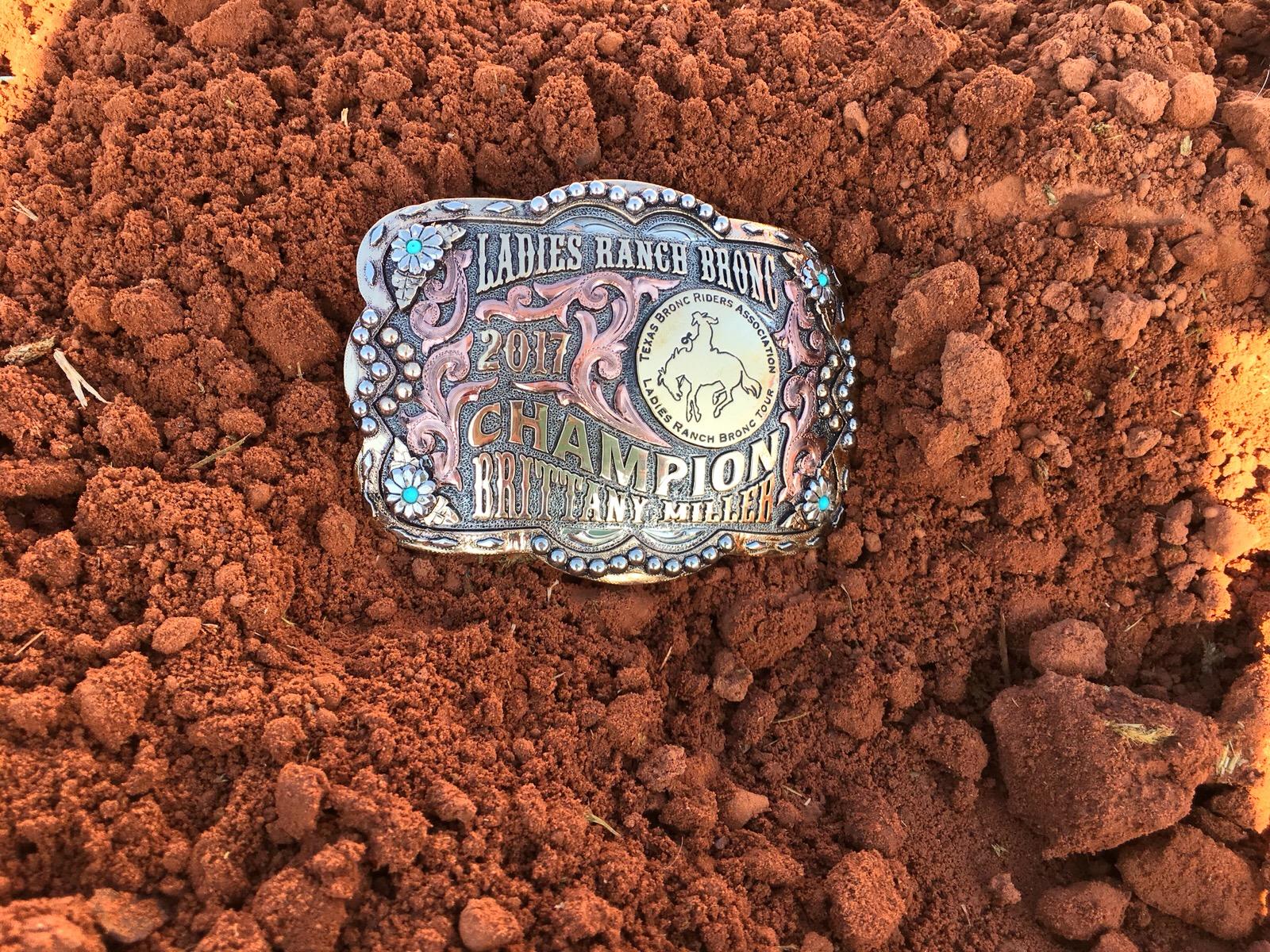 2017 Ladies Ranch Bronc Champion, Brittany Miller