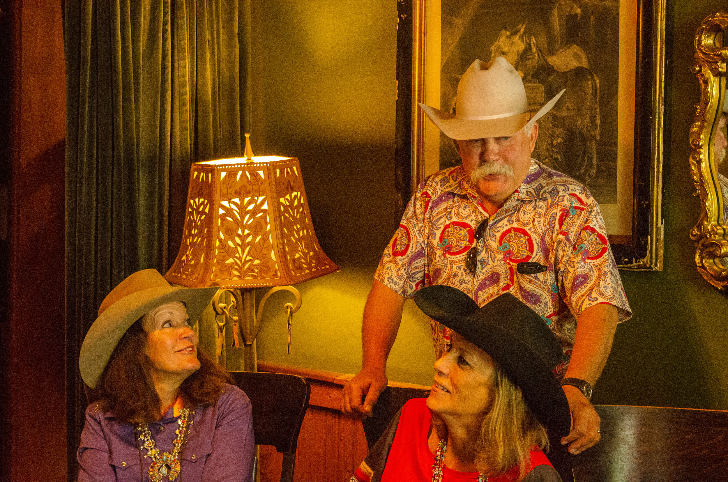 Susie Knight, Dale Burson and Deanna McCall, Cimarron Cowboy Music and Poetry Gathering.