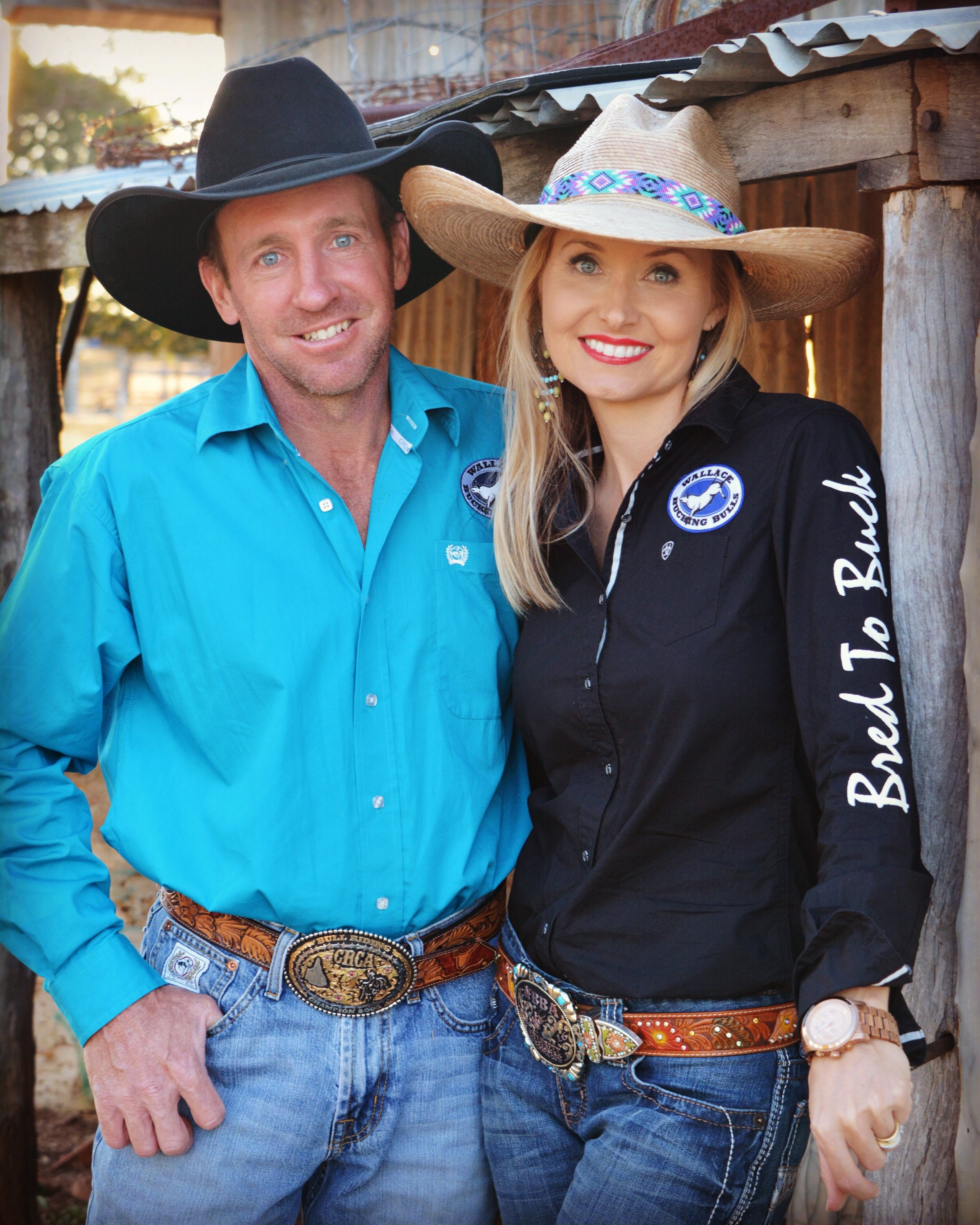 Jasmine, and her husband Peter have their own bucking bull business, Wallace Bucking Bulls.