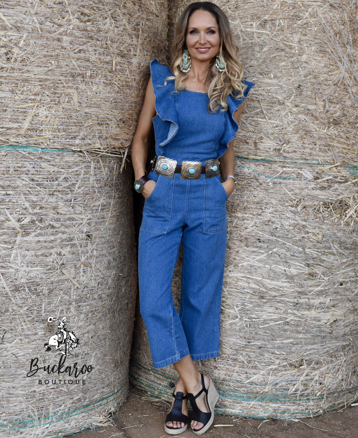 """""""This Aint My First Rodeo"""" Jumpsuit - Jasmine has a serene and classy style - available  here"""