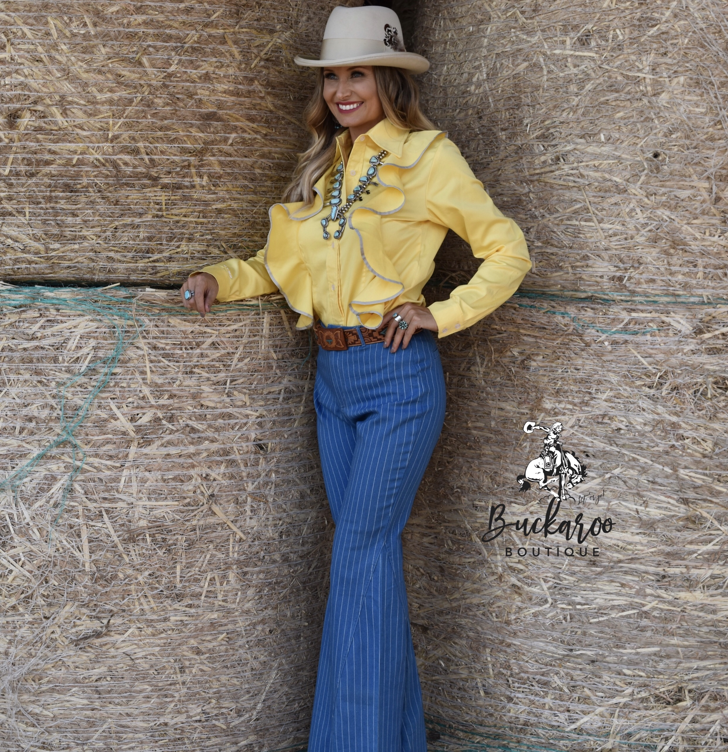 Here Jasmine is wearing the Paige1912 Salinas Buttercup Shirt made by Paige Callaway -you can read her WWW feature  here