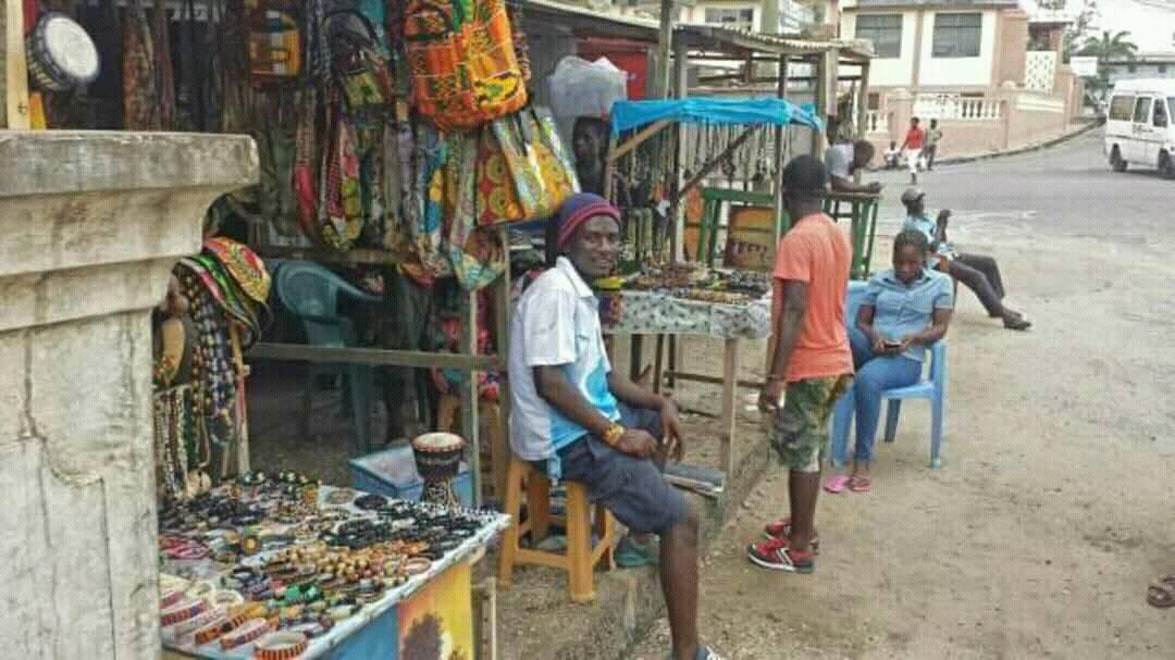 Kobina at his stall in Cape Coast, Ghana