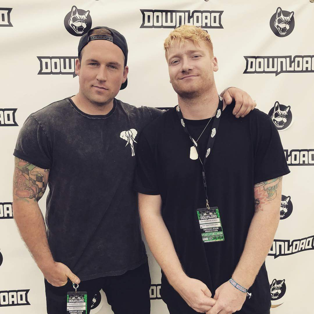 Tom & Cal at Download festival. Tom sporting his Ages Apparel Signature Tee