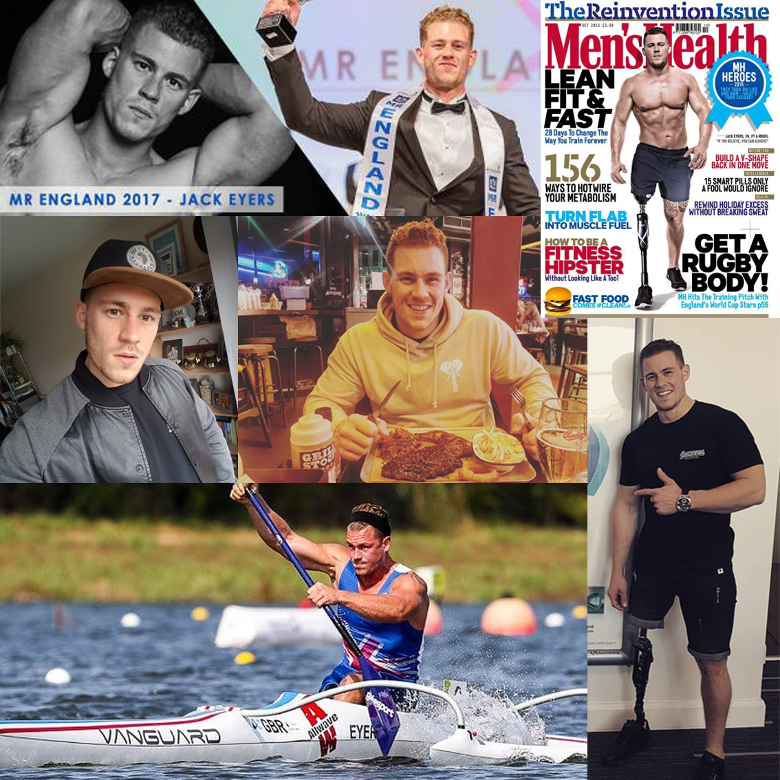 Jack Eyers - Team GB Para-canoe Athlete & Mr England 2017   Following an issue with his leg, Jack needed an amputation. Despite this he has gone on to achieve great things and help others going through struggles of their own. He has gone on to do professional modelling, film work, personal training, appear on the Ninja Warrior TV show, be selected to represent GB in the para-canoe world championships, compete in pageants and hold the title of Mr England!  We're proud Jack's representing Ages Apparel!  Learn more about Jack here >   BBC's Amazing Humans