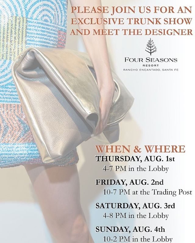 Our friend @elizabethpurpich is having a trunk show!  This is not to be missed.  #soul