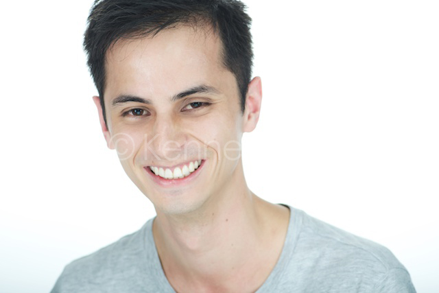 Hong Kong headshot portrait male smiling white background