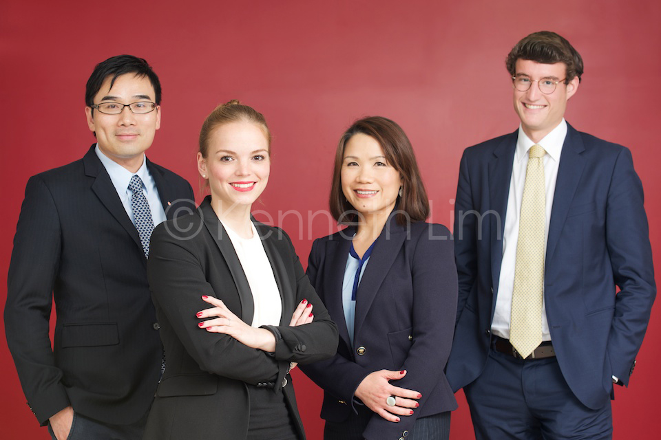 Group corporate headshots Hong Kong Central executive team photo