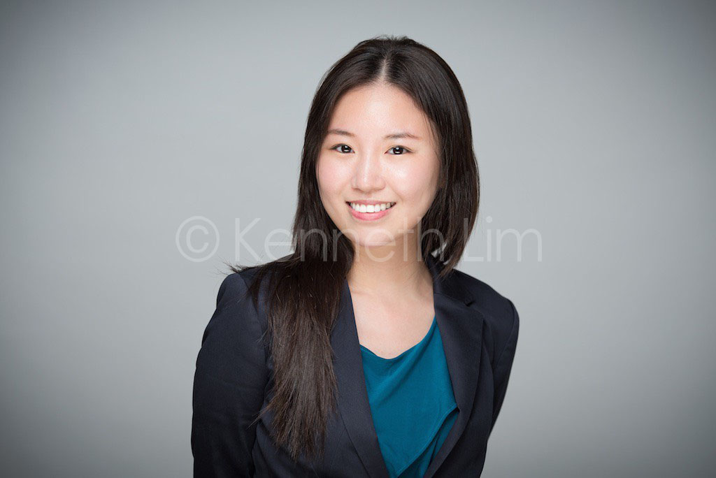 corporate headshot hong kong executive chinese girl smiling casual professional