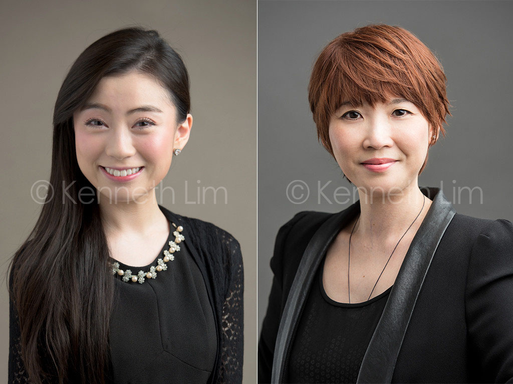 corporate headshot hong kong professional photography females in formal attire