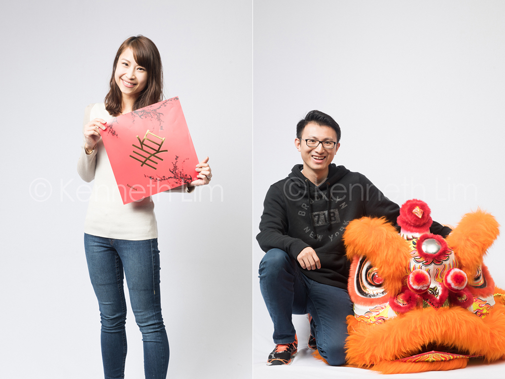 corporate-headshot-Facebook-Hong-Kong-Chinese-girl-holding-red-sign-spring-festival-Chinese-guy-next-to-lion-head