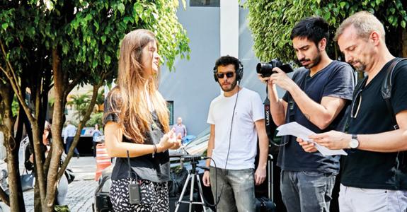 """Bastidores das entrevistas para a série """"Líderes do Futuro"""". Foto: Arthur Nobre"""