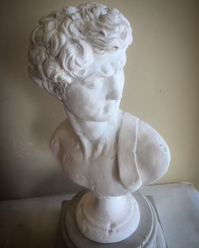 Our David, coming soon to our online store! #gypsumstyle #art #gypsumartwork #gypsumart #thedavid #statue #buyme