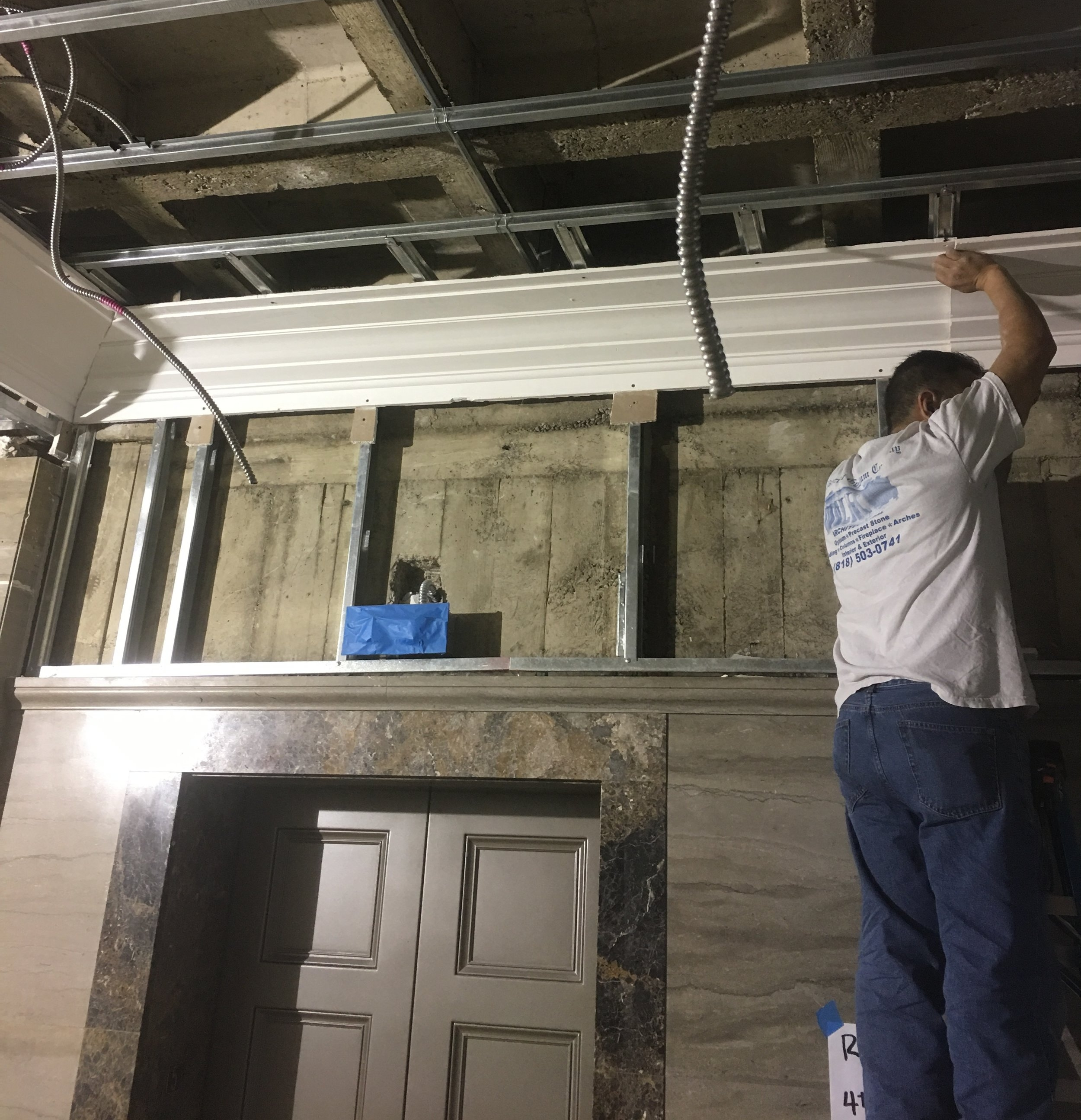 Before Drywall Gypsum Molding