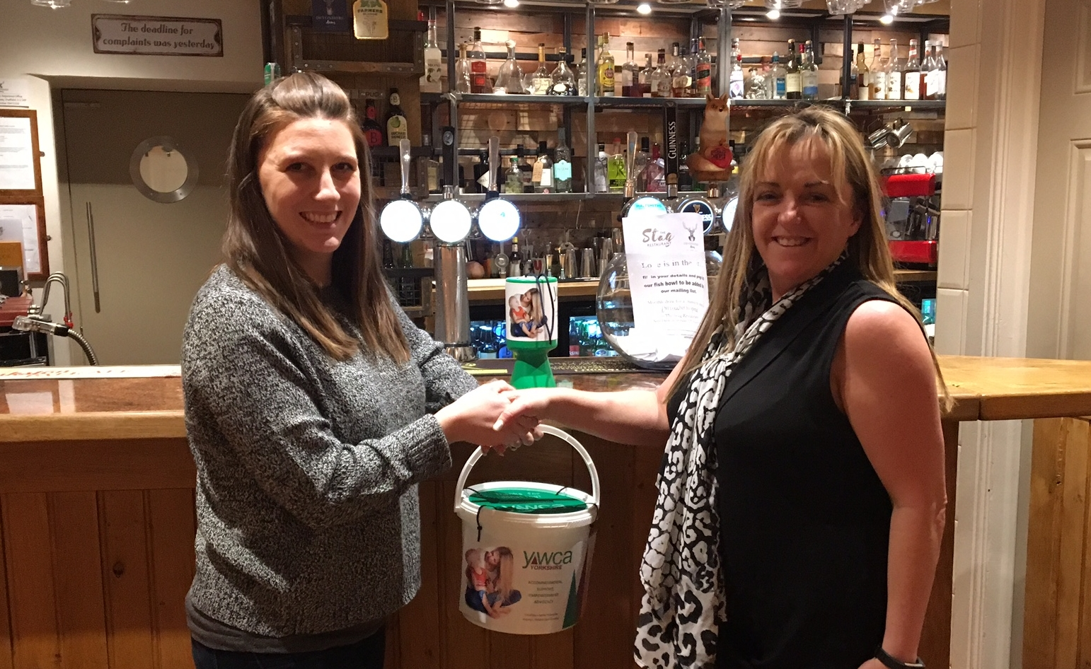 They raised over £1,400 in one night - As part of our new partnership with the excellent pub and restaurant, we say thank you for all the money they raised on one evening.
