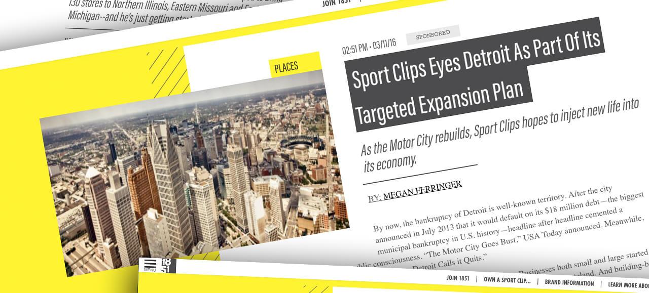 Sport Clips 1851 Detroit Story