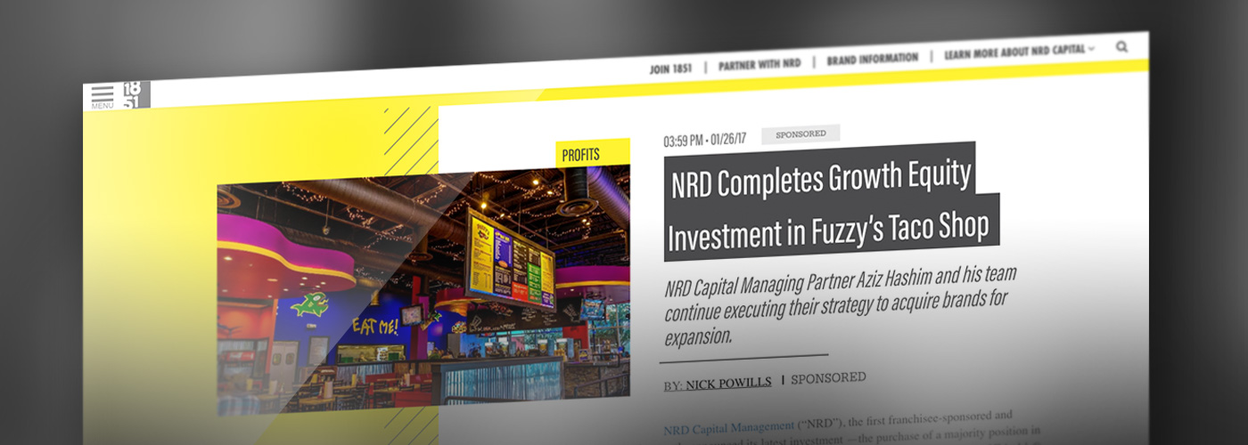 NRD Capital investment in Fuzzy's Taco Shop