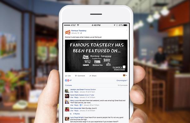 Famous Toastery | Social Media