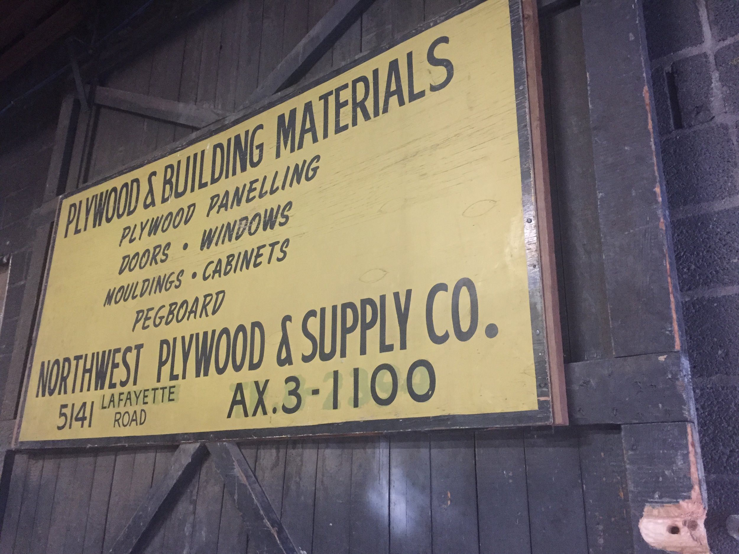 Our sign from 1956! - We have evolved from selling construction materials to selling fine woodworking supplies over the span of 62 years!