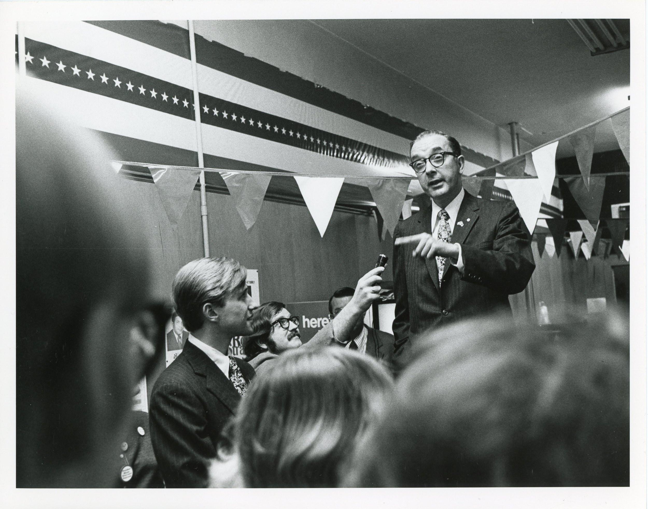 Jesse Helms on the campaign trail in 1972.
