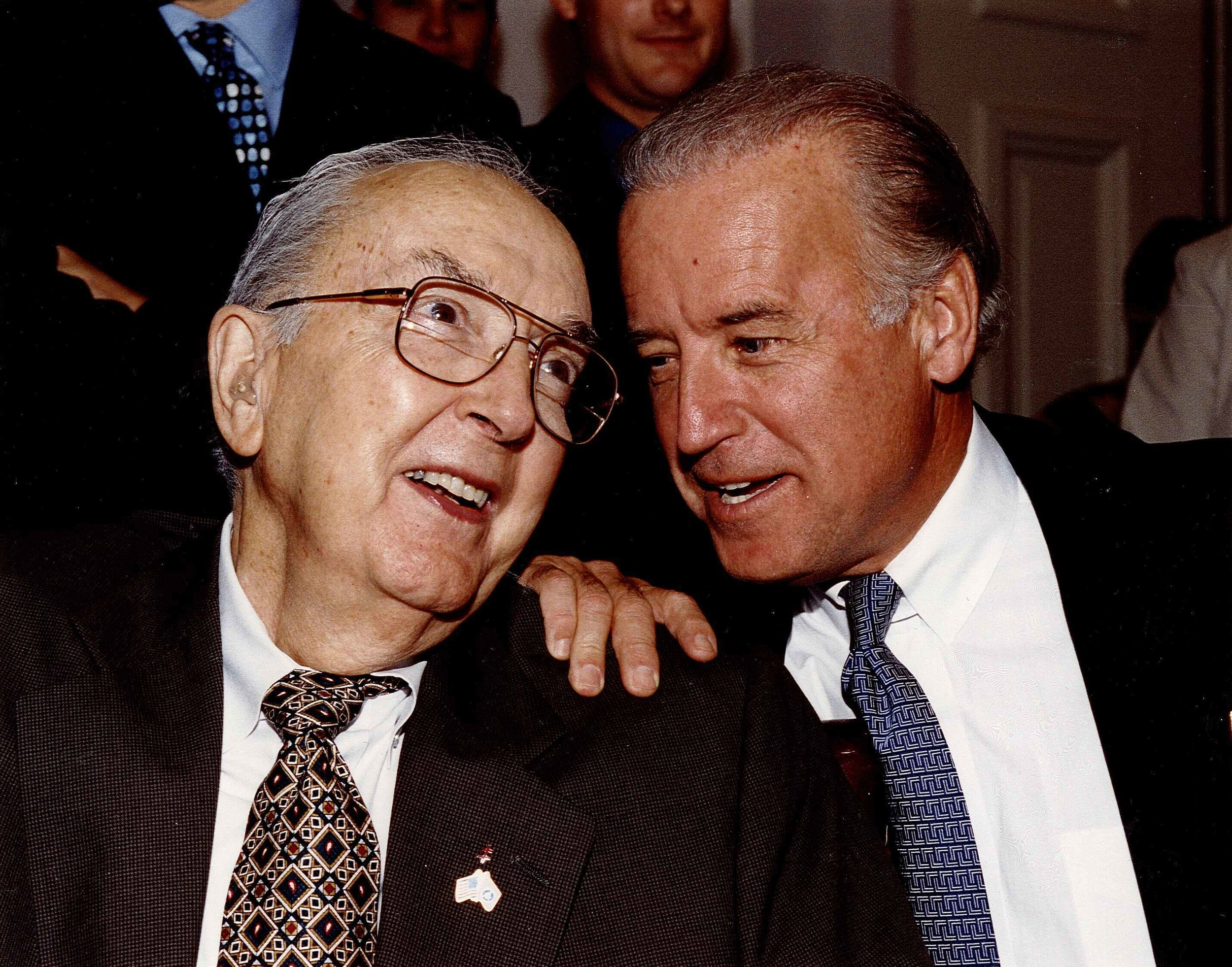 Senator Helms and Senator Biden worked closely together on the Senate Foreign Relations Committee.