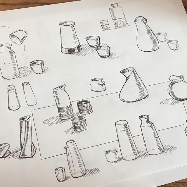 What have I done, I can't decide! . . . . #industrialdesign #design #sketch #ceramics #designsketch #render #japanese #pottery #idsketching #sake #sketching #rendering #idsketch #renderweekly