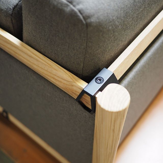 Little detail shot of that new @bulofurniture DAN Lounge line. Solid, FSC-certified ash.