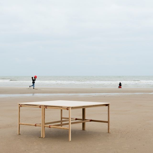 Another throwback to last year's @bulofurniture shoot on the beach in Oostende.  DAN desk in natural ash.